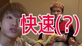 【VSへきトラ】総重量5kg&20000kcalのチーズバーガー大食い対決!!