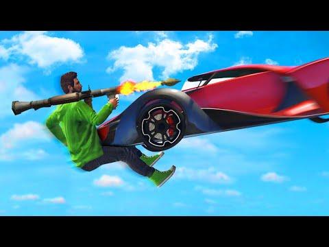 EXTREME 300MPH CARS vs. RPG's! (GTA 5 Funny Moments)