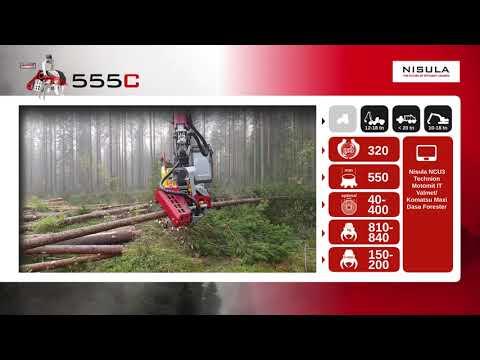 Video brochure of Nisula 555C harvester head
