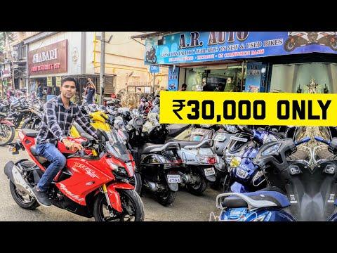 BEST SECOND HAND BIKE MARKET IN MUMBAI | MIRA ROAD | arbazkhanvlogs