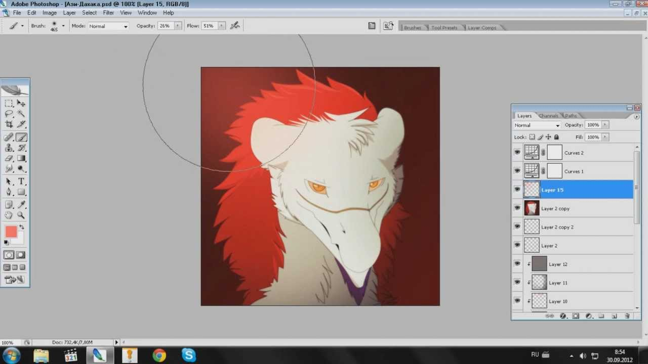 рисование в фотошопе мышкой