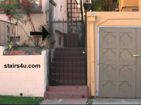 Stairway Security Gate Between Homes - Home Protection