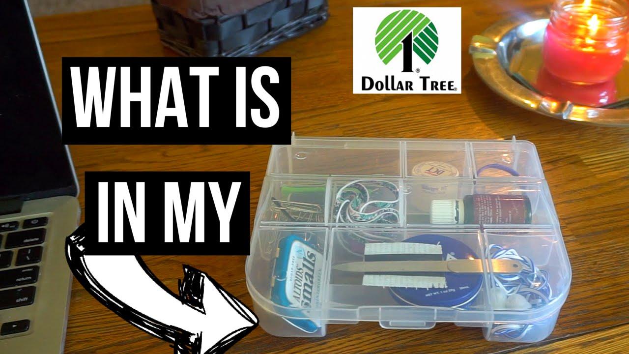 Dollar Tree Organizer Box   My Side Table Organization