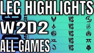 LEC Highlights ALL GAMES W2D2 Summer 2021