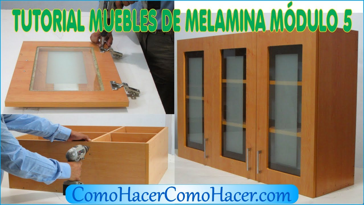 Tutorial muebles de melamina m dulo 5 youtube for Muebles mdf pdf