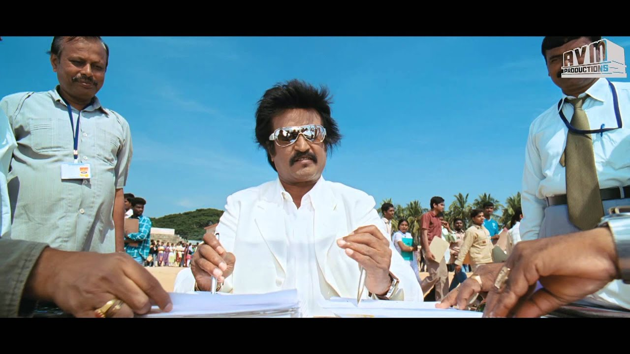 Rajini Style In Sivaji The Boss Signing With Both Hands