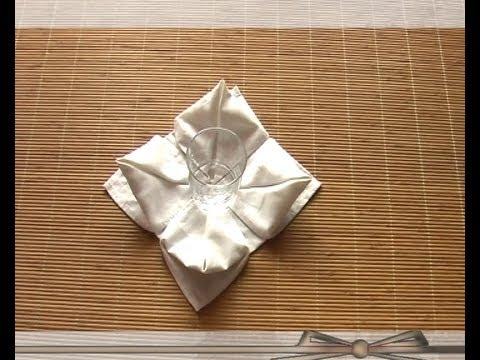 Pliage serviette Papier en fleur.mpg - YouTube