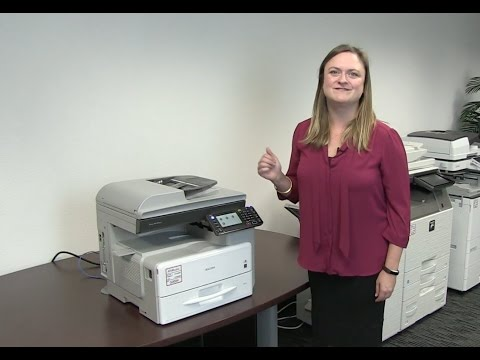 How to copy, scan and fax on Ricoh 301 multifunction copier