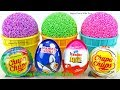 Play Foam Ice Cream Cups Surprise Toys and Kinder Surprise Eggs