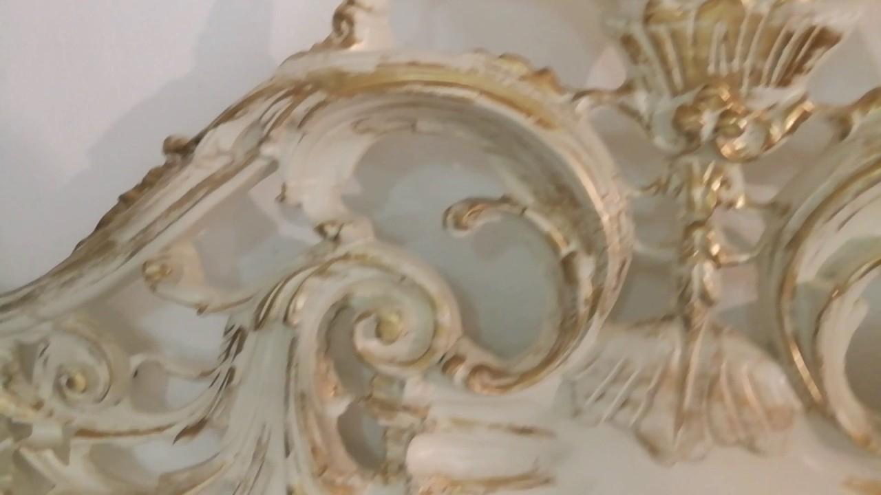 Camera Matrimoniale Stile Veneziano.Letto Barocco Stile Veneziano Intagliato