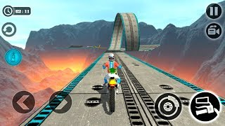 Impossible Motor Bike Tracks - Gameplay Android game - impossible games