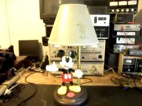 Mickey Mouse Animated Lamp Repair Dennis McDonald Www.A1 Telephone.com  618 235 6959