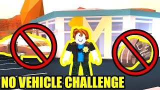 *HARD* NO VEHICLE CHALLENGE | Roblox Jailbreak