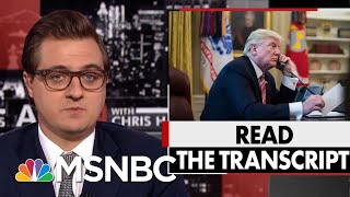 President Donald Trump Officials Wanted Ukraine To Implicate Bidens | All In | MSNBC