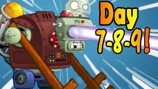 Plants vs. Zombies 2: Far Future Days 7-8-9!