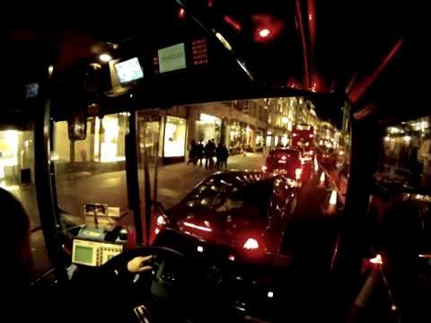 London bus driver view at night - Part 2 ✔