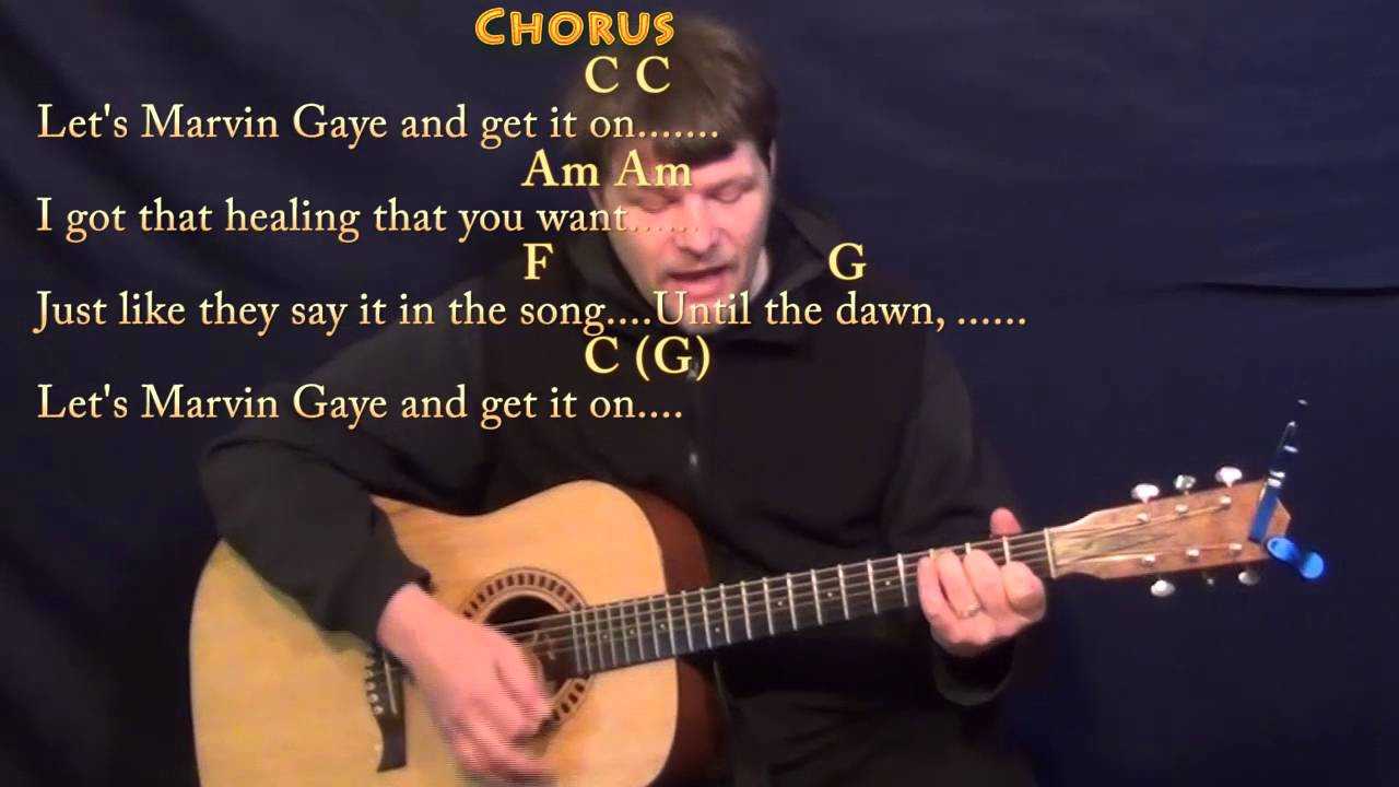 Marvin Gaye Charlie Puth Strum Guitar Cover Lesson In C With
