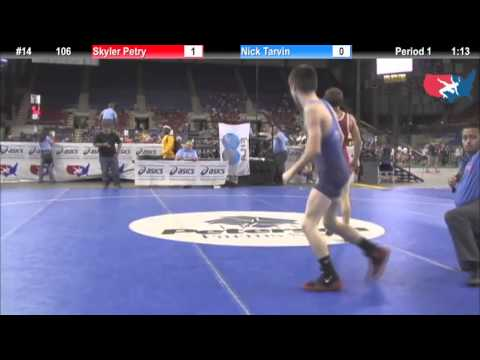 Fargo 2012 106 Round 1: Skyler Petry (Minnesota) vs. Nick Tarvin (North Carolina)