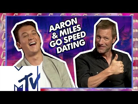 Miles Teller & Aaron Eckhart Go Speed Dating!  MTV Movies