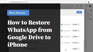 How to Restore WhatsApp Chats from Google Drive to iPhone
