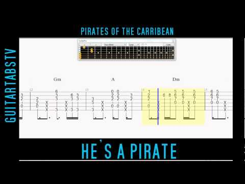 He's A Pirate Acoustic Guitar Pro Free TABS + PDF Pirates Of The Carribean