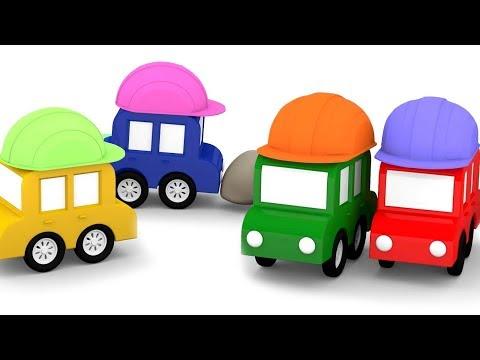 lehrreicher zeichentrickfilm die 4 kleinen autos werden bauarbeiter youtube. Black Bedroom Furniture Sets. Home Design Ideas