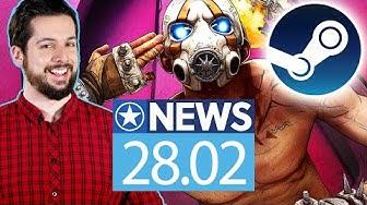 Borderlands 3 feiert Hochzeit auf Steam - News