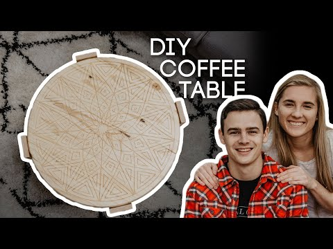 DIY Round Coffee Table | Woodworking