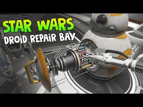 AWESOME VR EXPERIENCE • STAR WARS: DROID REPAIR BAY - HTC VIVE