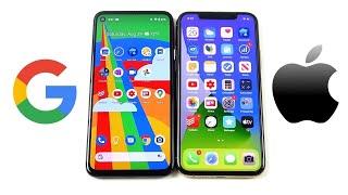 Google Pixel 4a vs iPhone 11 Pro