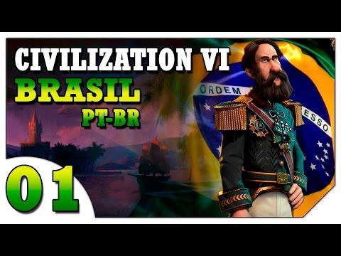 Civilization 6 Brasil #01 (VAMOS JOGAR) Onde Fundar a Primeira Cidade [Gameplay Português PT-BR]