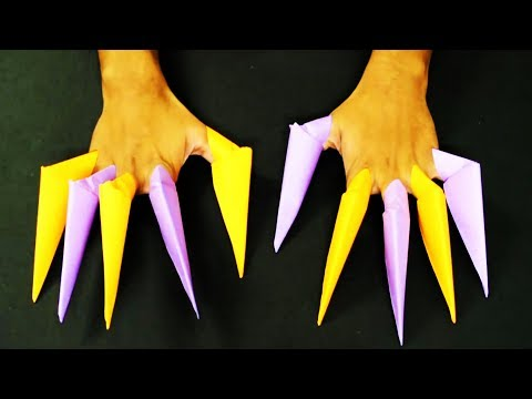 How to make: Origami Paper Claws   Easy   Tutorial
