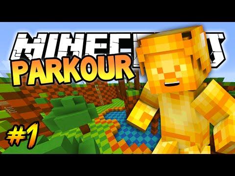 Minecraft: Golden Steve Parkour! Minecraft 1.8 (Blue Shell) Parkour Map! #1
