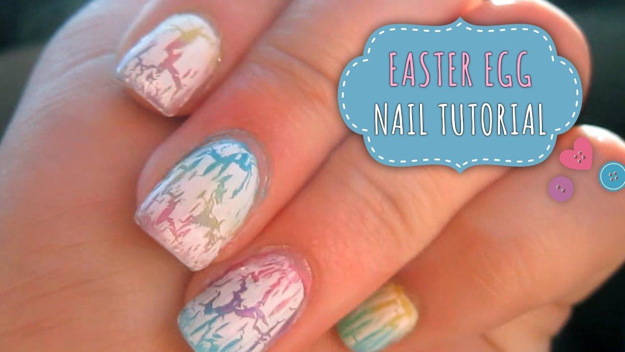 Cracked Easter Egg Nail Tutorial Gradient Nail Art Using