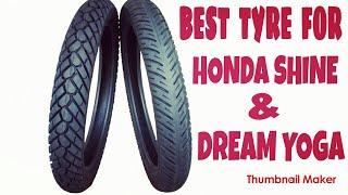 best tyre for Honda shine and Honda dream yoga MRF METEOR -M , 80/100-18 for rear fitment