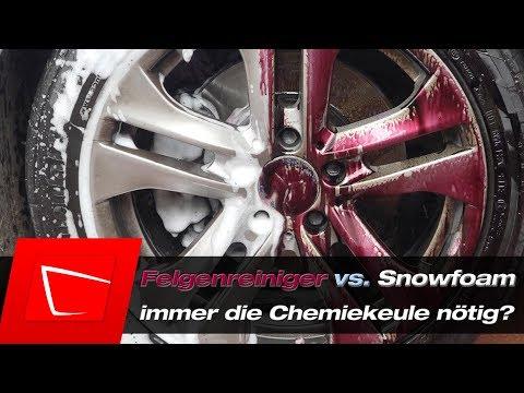 Felgenreiniger vs. Snowfoam - Tuga Grün Koch Chemie Shiny Garage Force Clean Valet Pro Auto Finesse