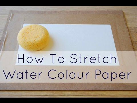 How To Prep your Watercolour Paper