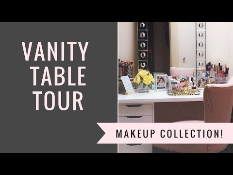 Vanity Table Tour!! Makeup Collection!!
