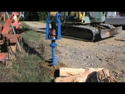 Trivella Idraulica Montata Su Escavatore 40 Quintali Con Punta Al