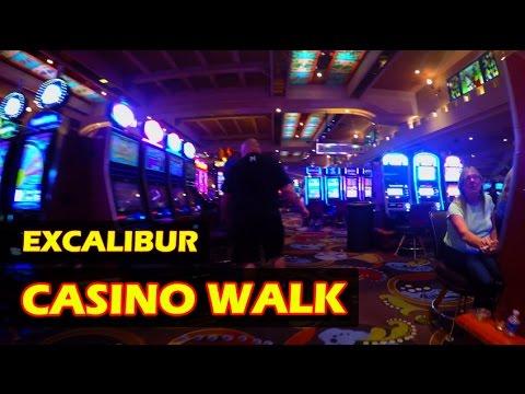 Walking Through The Excalibur Hotel & Casino In Las Vegas - Nov 2016 - 4K HD