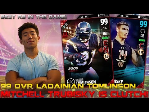 WE GET 99 OVR LADAINIAN TOMLINSON & TRUBISKY! BEST RB IN THE GAME! MADDEN 17 ULTIMATE TEAM