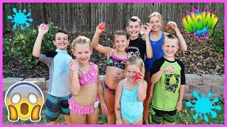 KIDS WATER BALLOON TOSS CHALLENGE WITH BUNCH O BALLOONS!