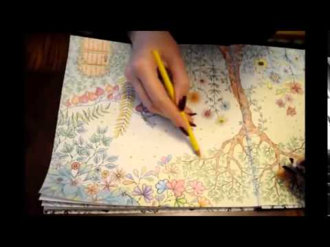 Secret Garden Coloring Book YouTube 480p