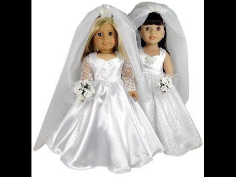 American girl doll clothes patterns wedding dress youtube for American girl wedding dress