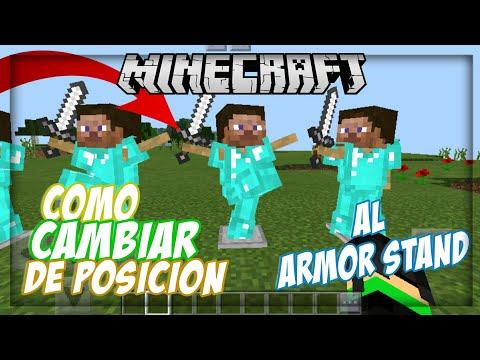 COMO CAMBIAR DE POSICIONES AL ARMOR STAND EN MINECRAFT 1.2.0 | TODAS LAS VERSIONES DE MINECRAFT