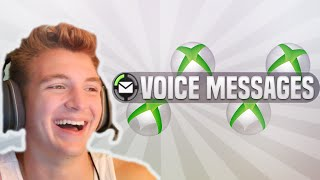 LISTENING TO XBOX VOICE MESSAGES!!