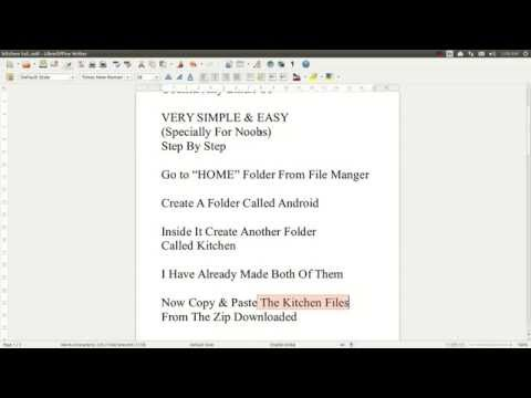 How To Setup Android Kitchen In Linux OS/Any Linux - YouTube