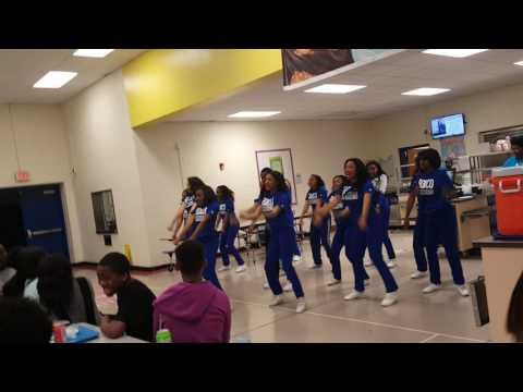 Cheer Phi Smoov at Bruns Academy- 2017 CIAA Tournament