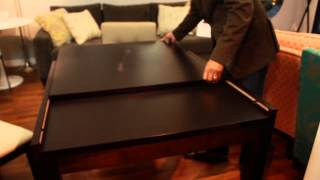 Brazil Expanding Wooden Dining Table - Condo Size Perfection for Modern Living
