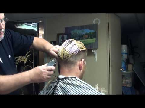 """Michael Pitt Hair Style Cut"" At The Barber Shop!!"